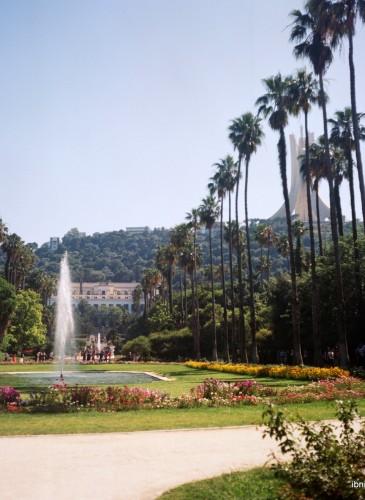 Le Jardin d'Essai du Hamma, au pied du Monument des Martyrs de la guerre de libération