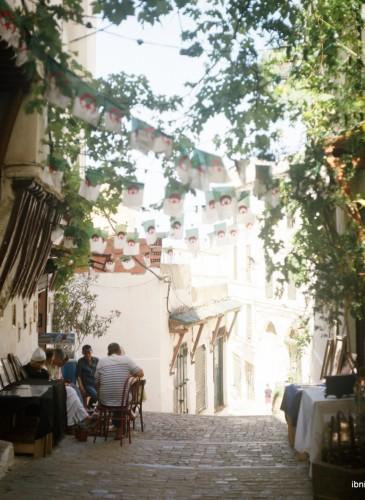 Un coin calme de la Casbah, l'ancien quartier d'Alger
