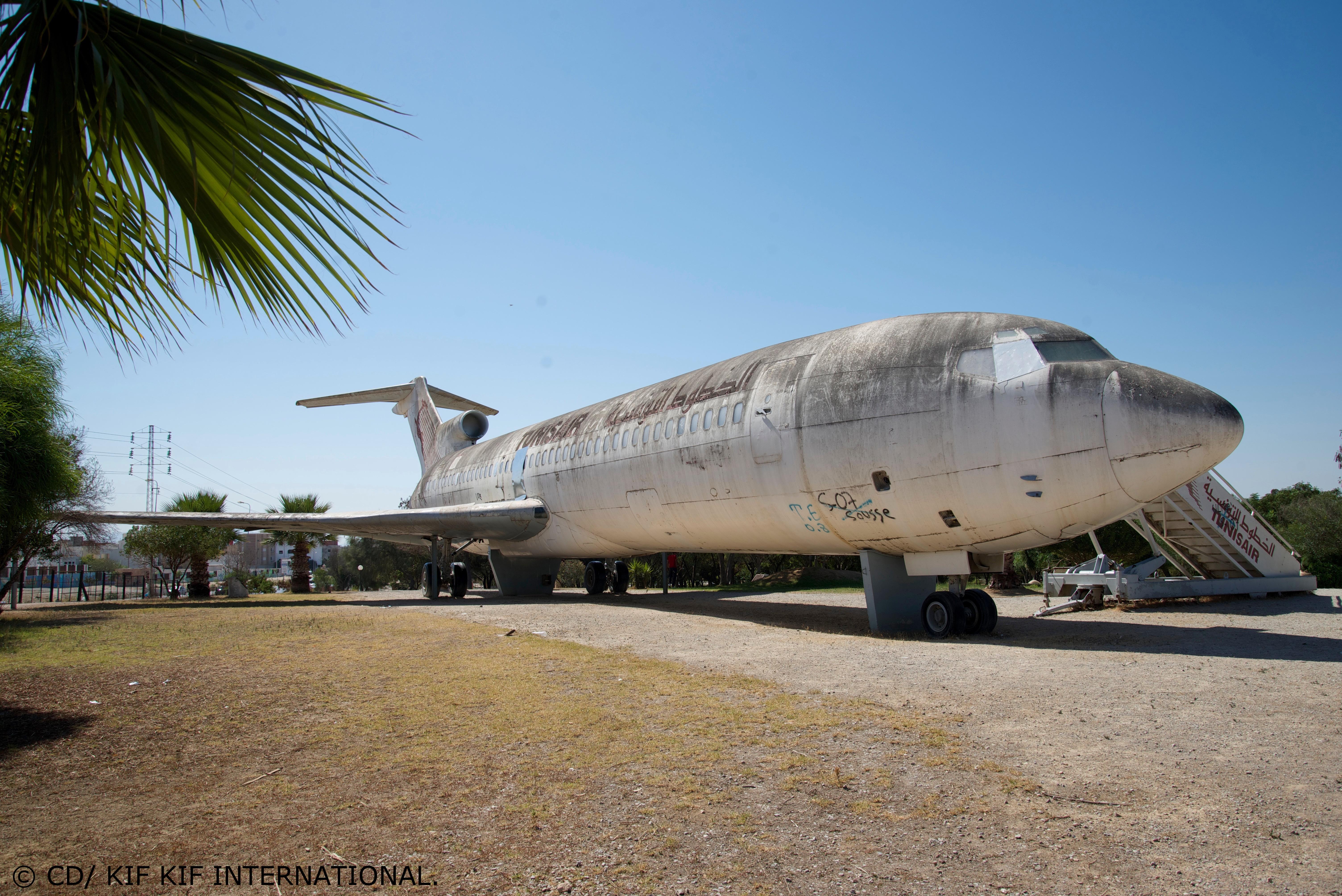 Métamorphose stylée d'un Boeing 727 à Tunis