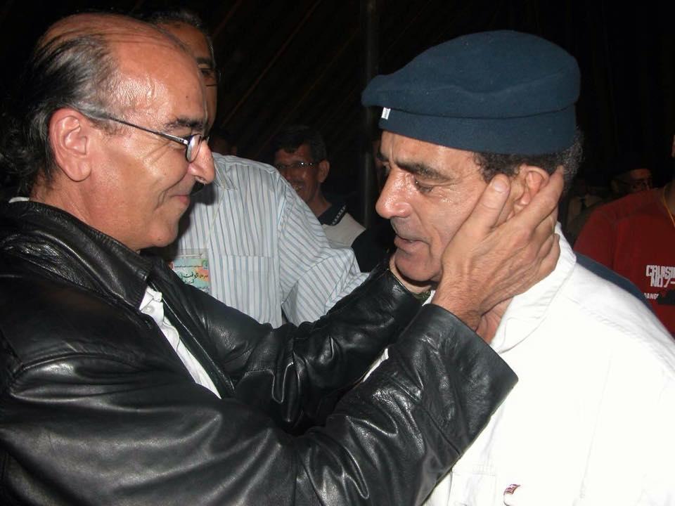 à droite Abdelâziz Chamekh, à gauche Abdelhadi Iggout