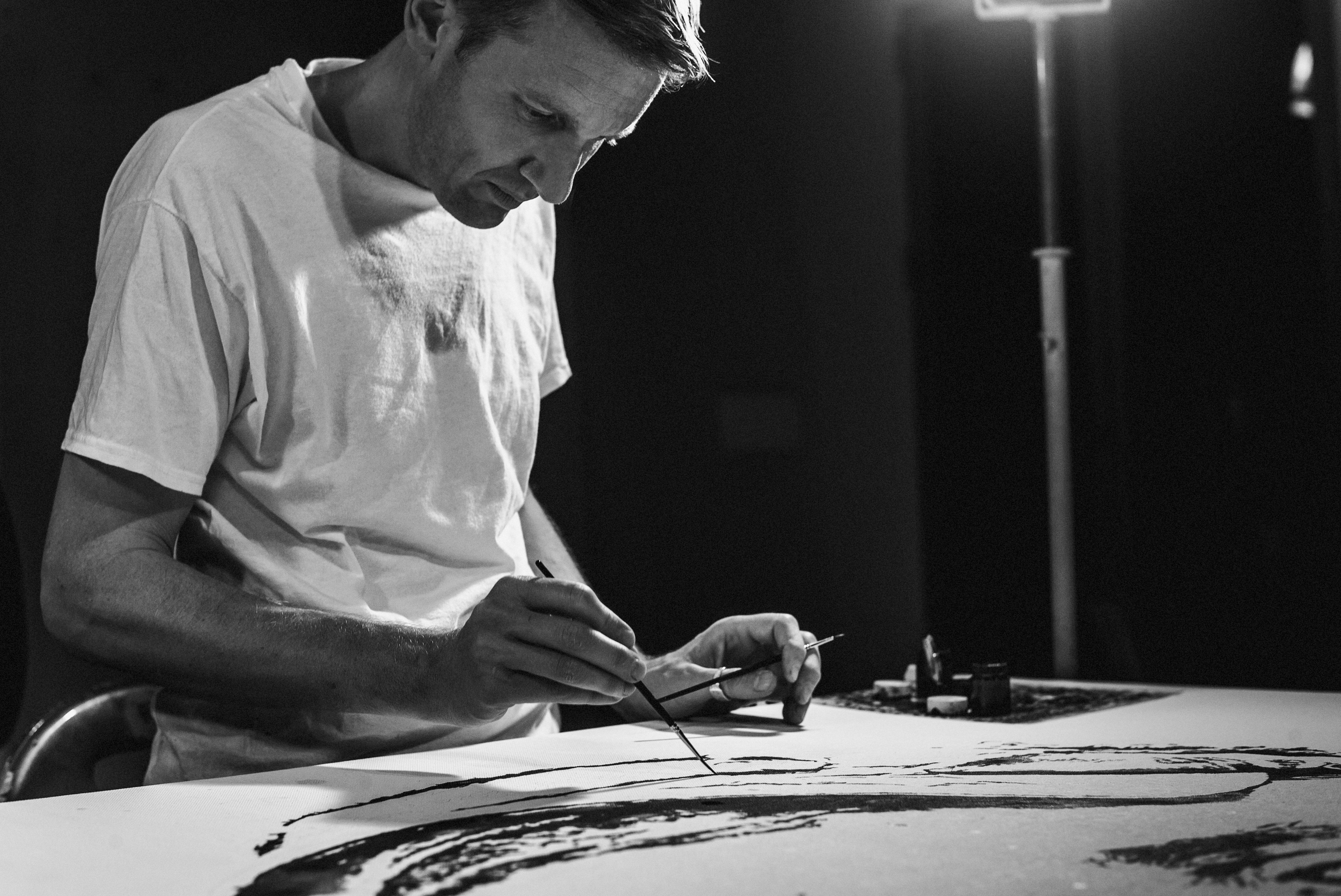 Hendrik Beikirch, studio jardin rouge montresso art foundation © Robert Winter