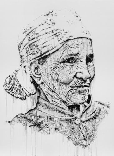 Smiaa, 2015 Acrylic, India ink, and spray paint on canvas_190x150cm