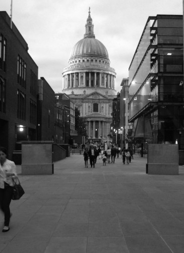 Biking through pedestrians London
