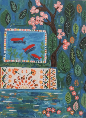 1-MarjaneSaidi_Goldfish in my Garden