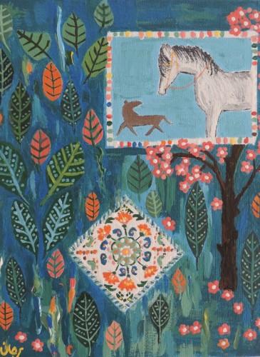 2-MarjaneSaidi_Horse in the Garden
