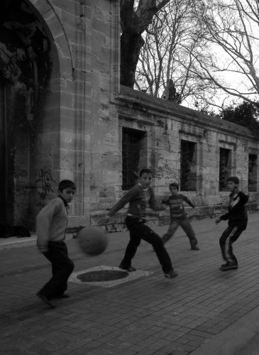 Football at the mosque