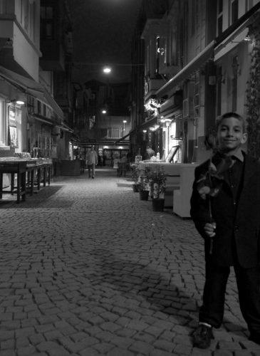 Gypsy boy in Ortaköy pub district