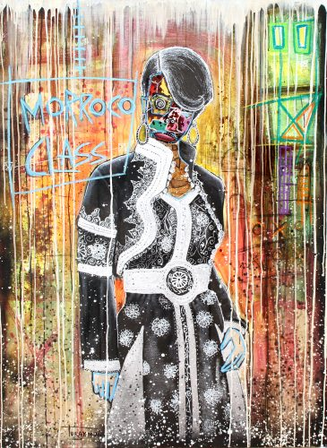 Leila acrylic mixt media 150x100 turay mederic 2016