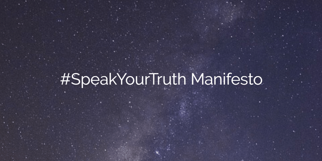 #SpeakYourTruth Manifesto by Sarah Anouar