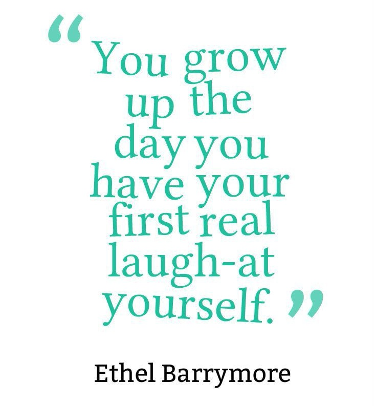 You're in growth process – why it's important you keep your sense of humour?