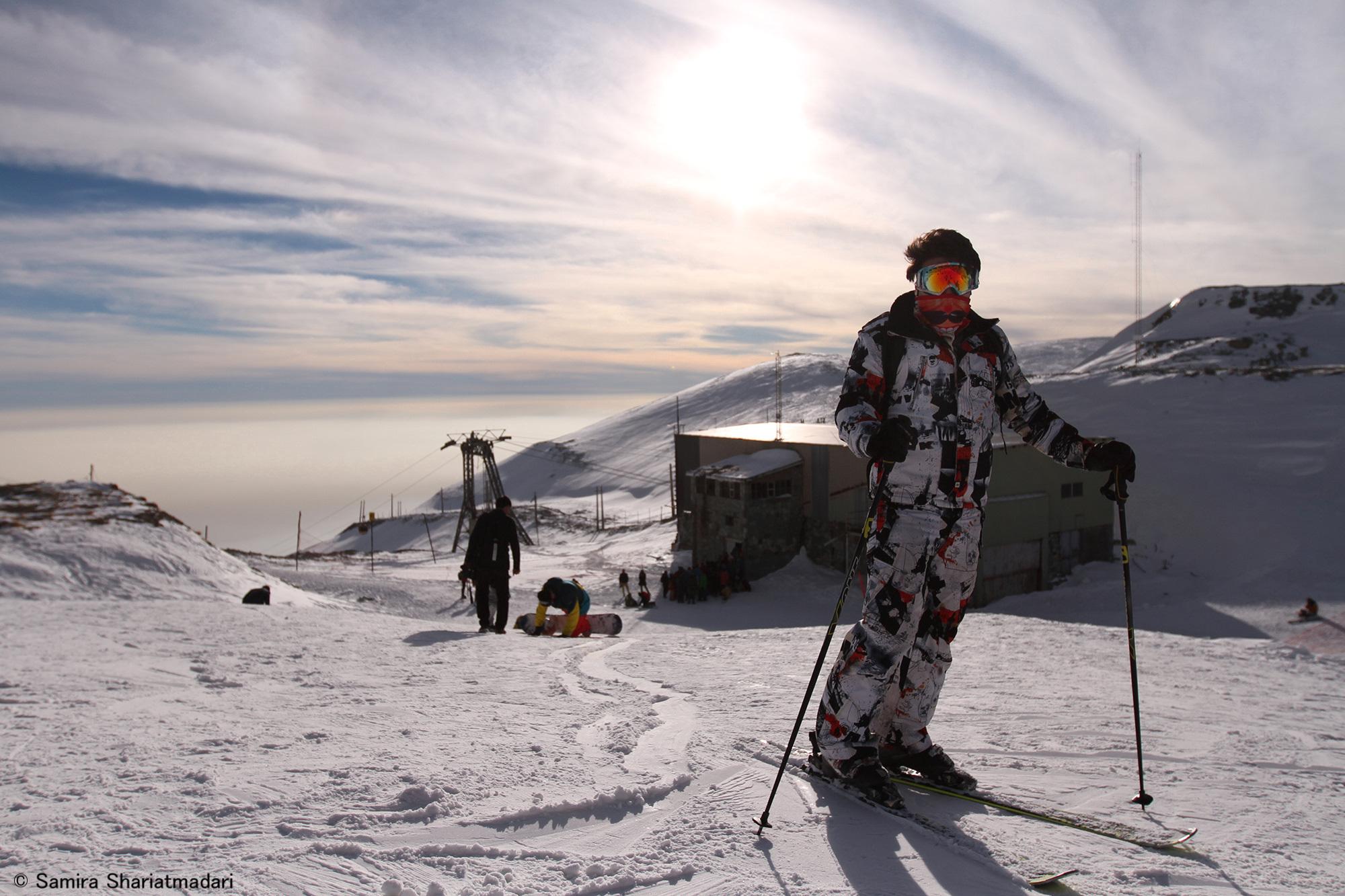 Ski dans la capitale orientale Téhéran
