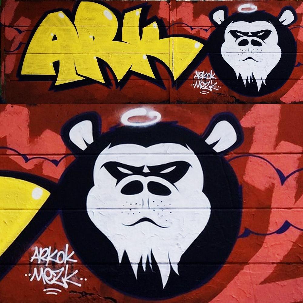 Graffitis à Dubaï par Ferhat Kaz