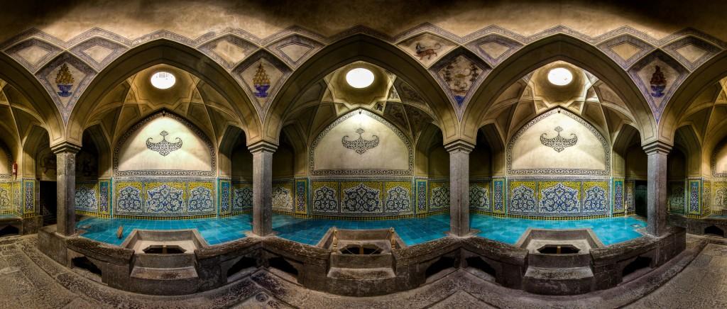 Bain Aliqoliagh, historique situé à Isfahan, Iran. © Mohammad Reza