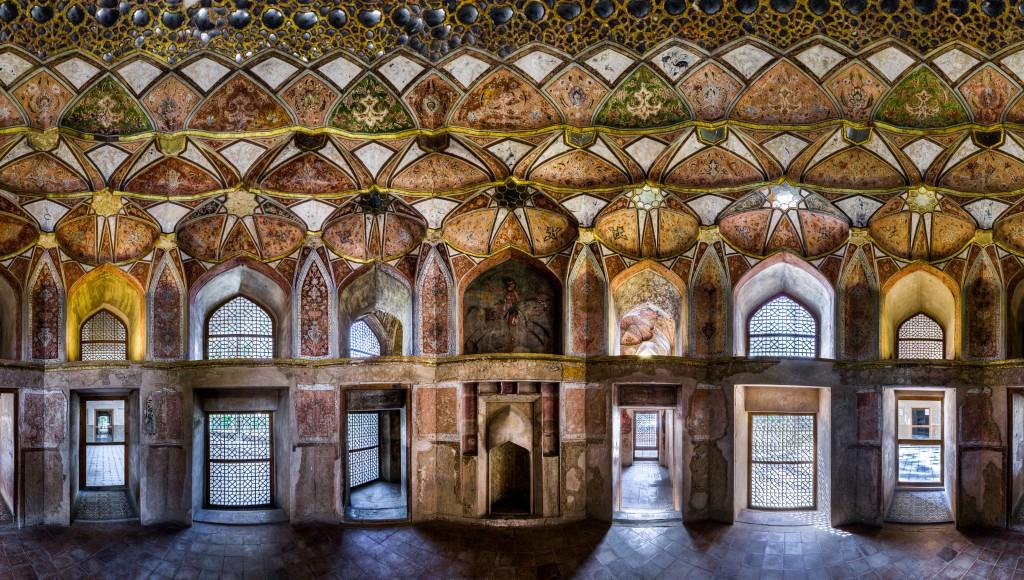"""Palais de Hasht Behesht dont le sens est """"Huit Paradis est un palais de l'ère Safavid à Isfahan. construit en 1669. © Mohammad Reza"""