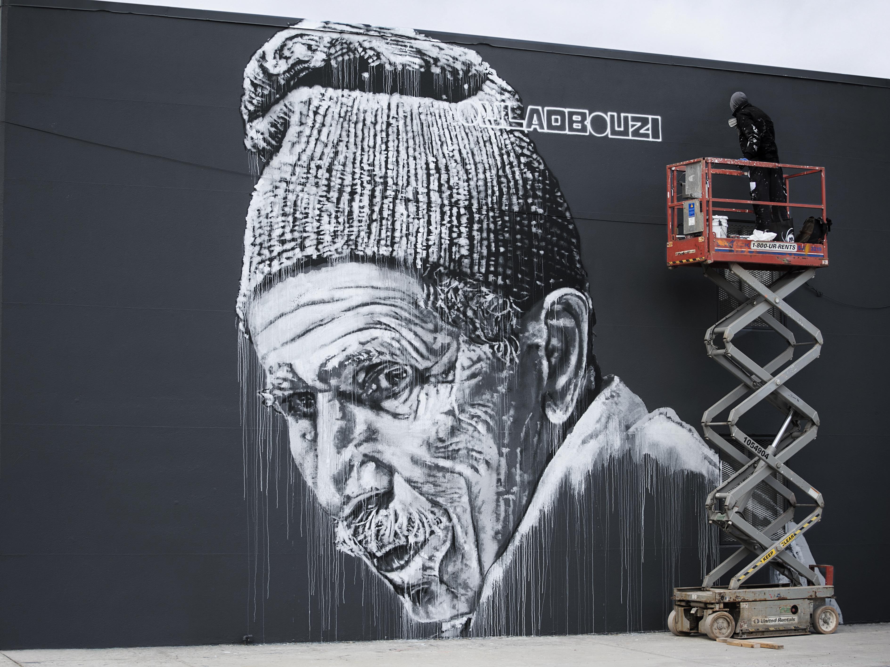 Création sur un mur à New York par Hendrik Beikirch