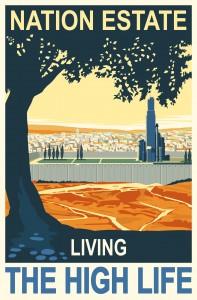 Nation Estate Poster, paper print, 100x150cm, Larissa Sansour, 2012.