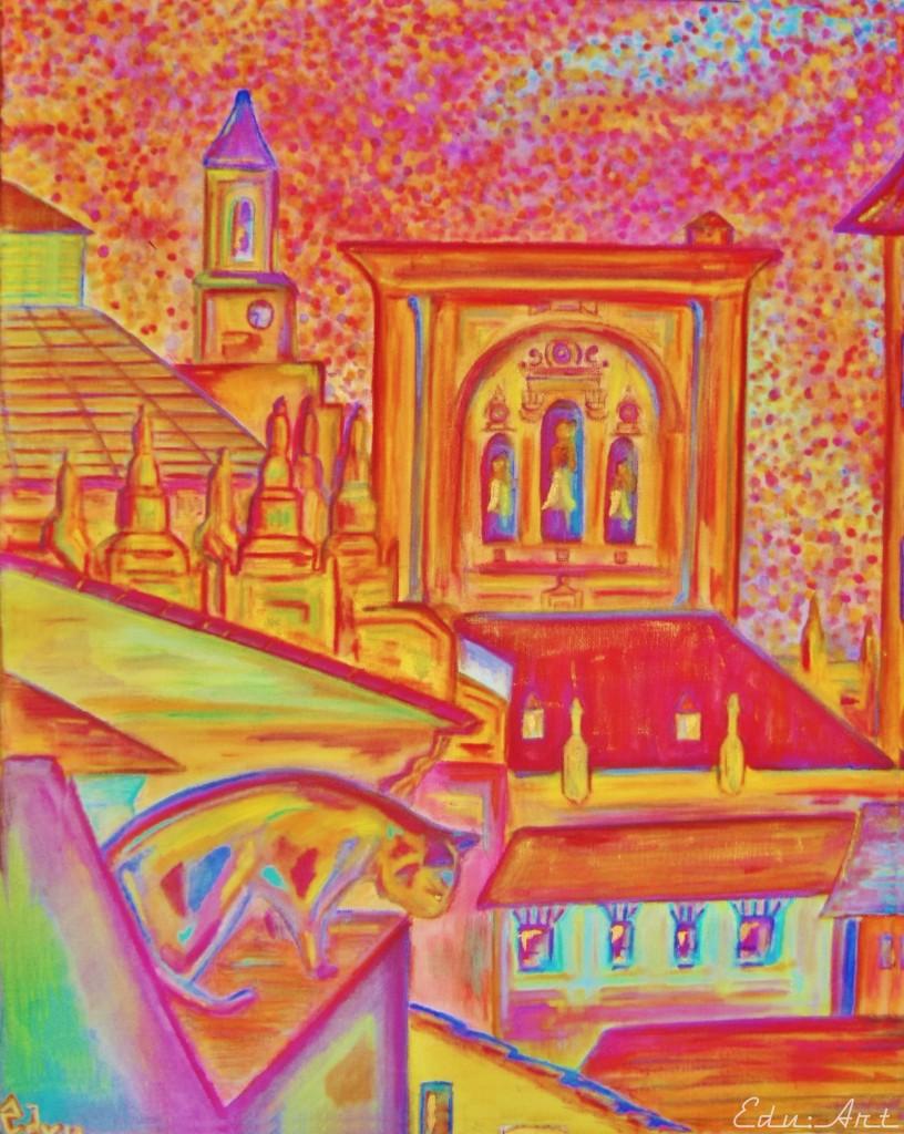 Coucher de soleil sur la Cathédrale de Grenade