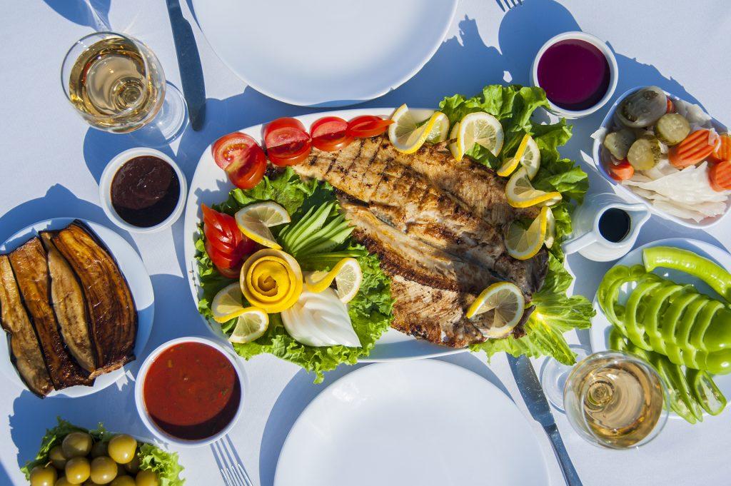 fried river trout fish © Eldar Fazraliyev
