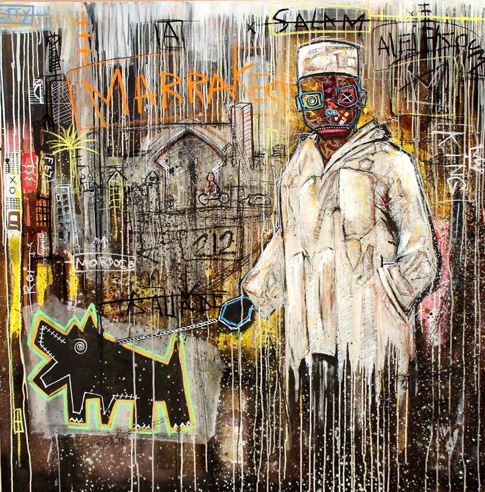 Couleurs café sur les toiles de Turay Mederic