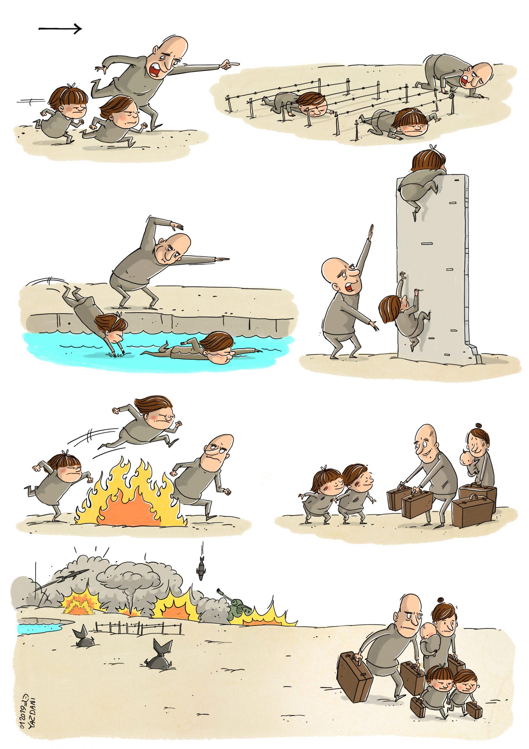 Mahnaz Yazdani, a vibrant & inspiring cartoonist