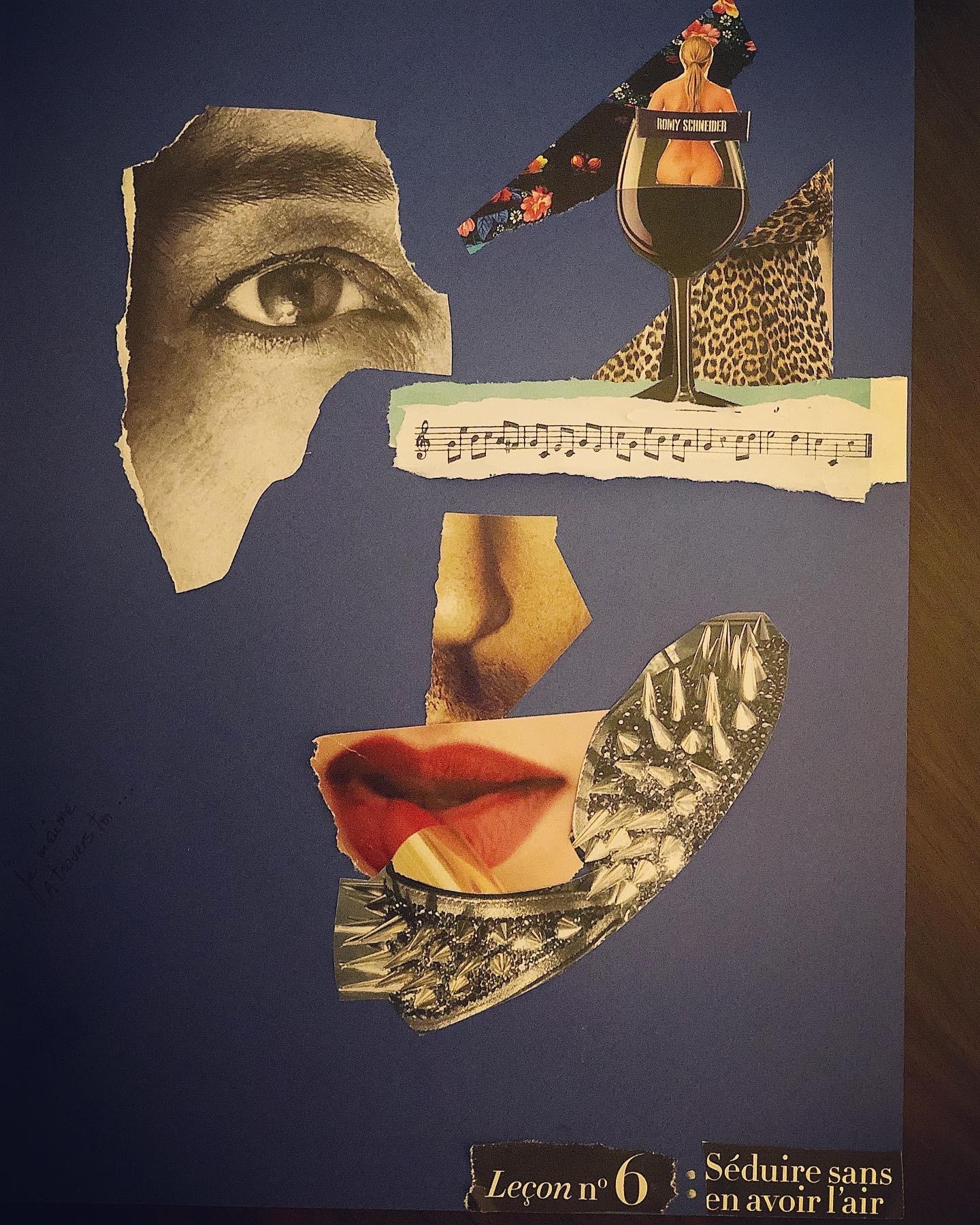 """""""Débris d'âme"""", l'art du collage d'Amal Bousnina"""